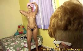 Pegando  a namorada gostosa do meu Tio em um puta samba porno bem foda do Brasil